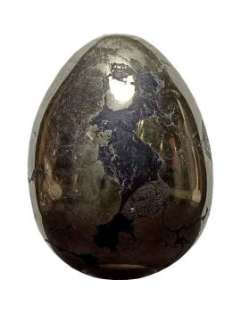 Golden Pyrite Egg Peru Golden Beautiful Polished Carved (188 Gram)