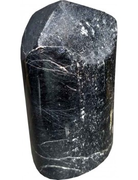 Black Tourmaline Polished Healing Crystal Tower Stone (365 Gram)
