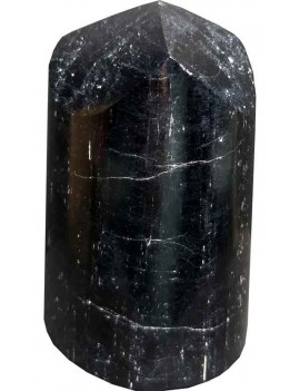 Black Tourmaline Polished Healing Crystal Tower Stone (410 Gram)