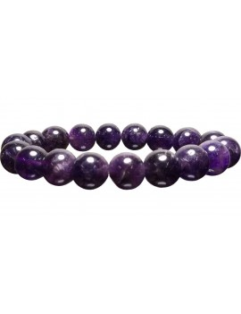 Amethyst AAA Quality Healing Crystal Bracelet (Bead Size 11 MM)
