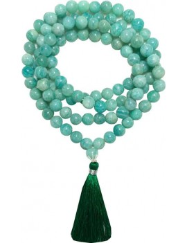 Apatite 108 Bead Healing Crystal Rosary, Necklace, Mala (Bead Size 8 MM)