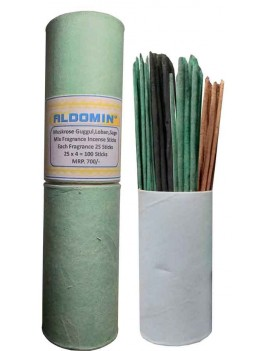 Mix Dhoop Sticks Of Muskrose,Guggul,Loban,Sage Fragrance Incense Dhoop Stick Agarbatti (25 x 4 = 100 Sticks Lenght :- 8.5 Inches)
