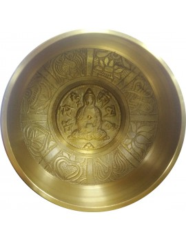 Tibetan Metal Singing Bowl For Meditation (1038 Gram)