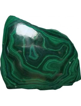 Malachite Healing Crystal Raw/Rough Stone (106 Gram One Side Polished)