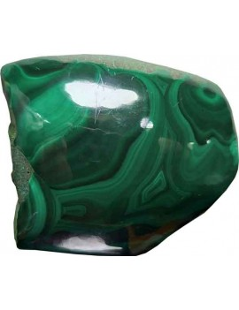 Malachite Healing Crystal Raw/Rough Stone (108 Gram One Side Polished)